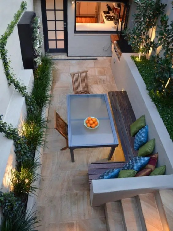 27 Comfy L-Shaped Benches For Outdoors - DigsDigs on L Shaped Patio Ideas id=58898