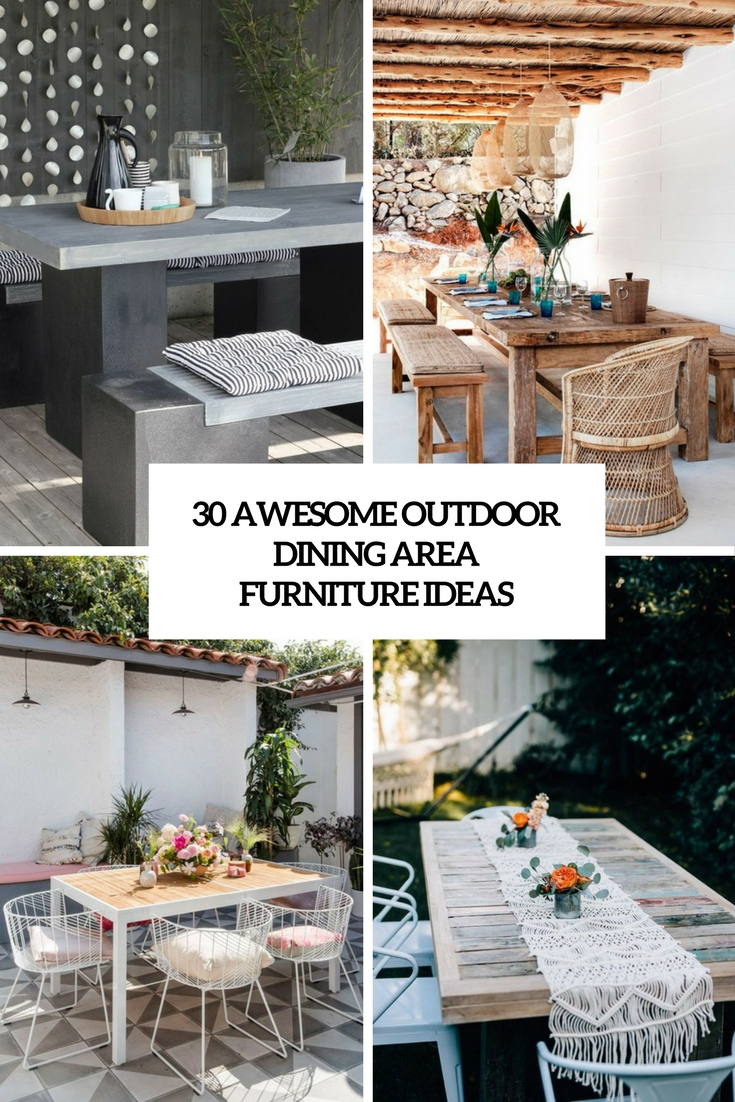 30 Awesome Outdoor Dining Area Furniture Ideas - DigsDigs on Patio Dining Area Ideas id=91254