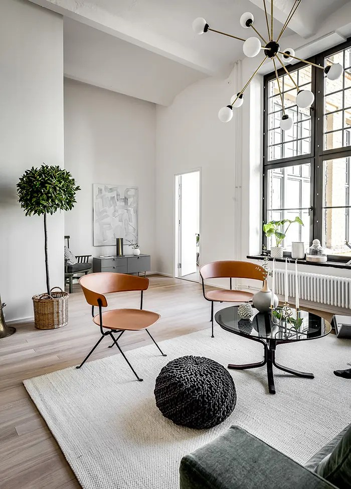 Chic Scandinavian Apartment In A Former Brewery DigsDigs