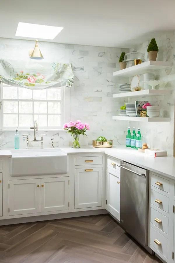 White Kitchen Nook Storage