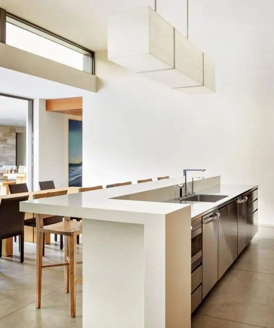 25 Stylish Kitchen Bar Counters For Open Layouts - DigsDigs on Kitchen Counter Decor Modern  id=82770