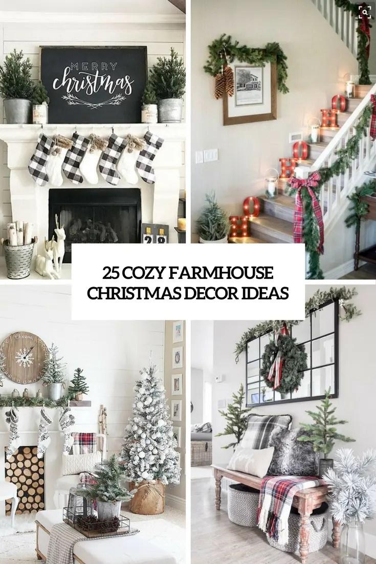 25 Cozy Farmhouse Christmas Decor Ideas DigsDigs