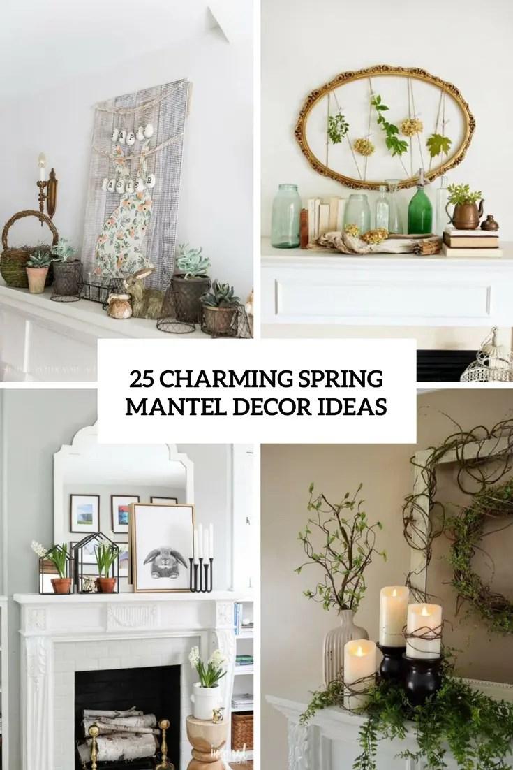 charming spring mantel decor ideas cover