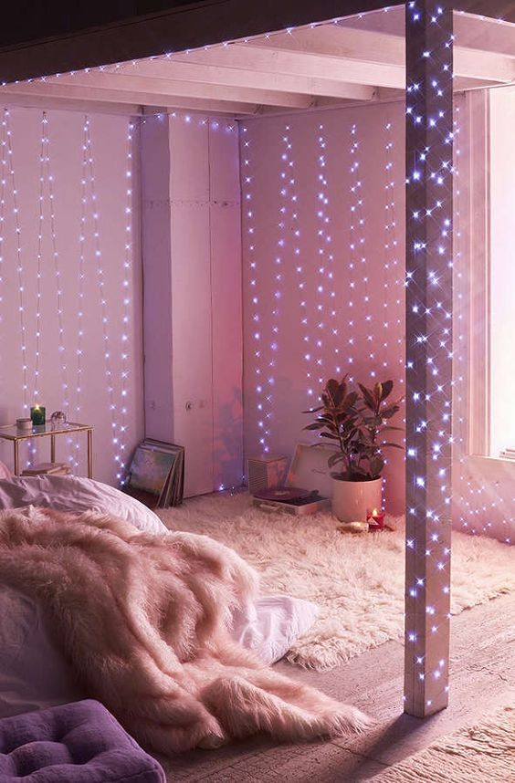 27 Cool String Lights Ideas For Bedrooms DigsDigs