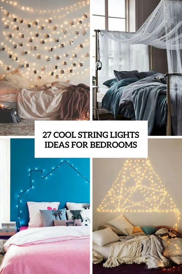 cool string lights ideas for bedrooms