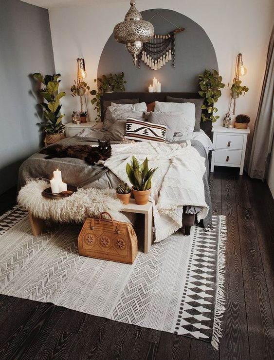 25 Ways To Add An Edgy Feel To Your Space - DigsDigs on Boho Bedroom Modern  id=54628