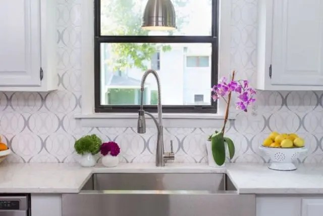 25 wallpaper kitchen backsplashes with