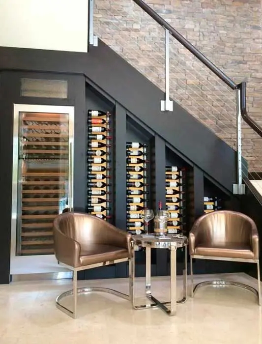 25 Under Stairs Wine Cellars And Wine Storage Spaces Digsdigs | Bar Under The Stairs Design | Escalera | Kitchen | Storage | Basement Remodeling | Attic Stairs