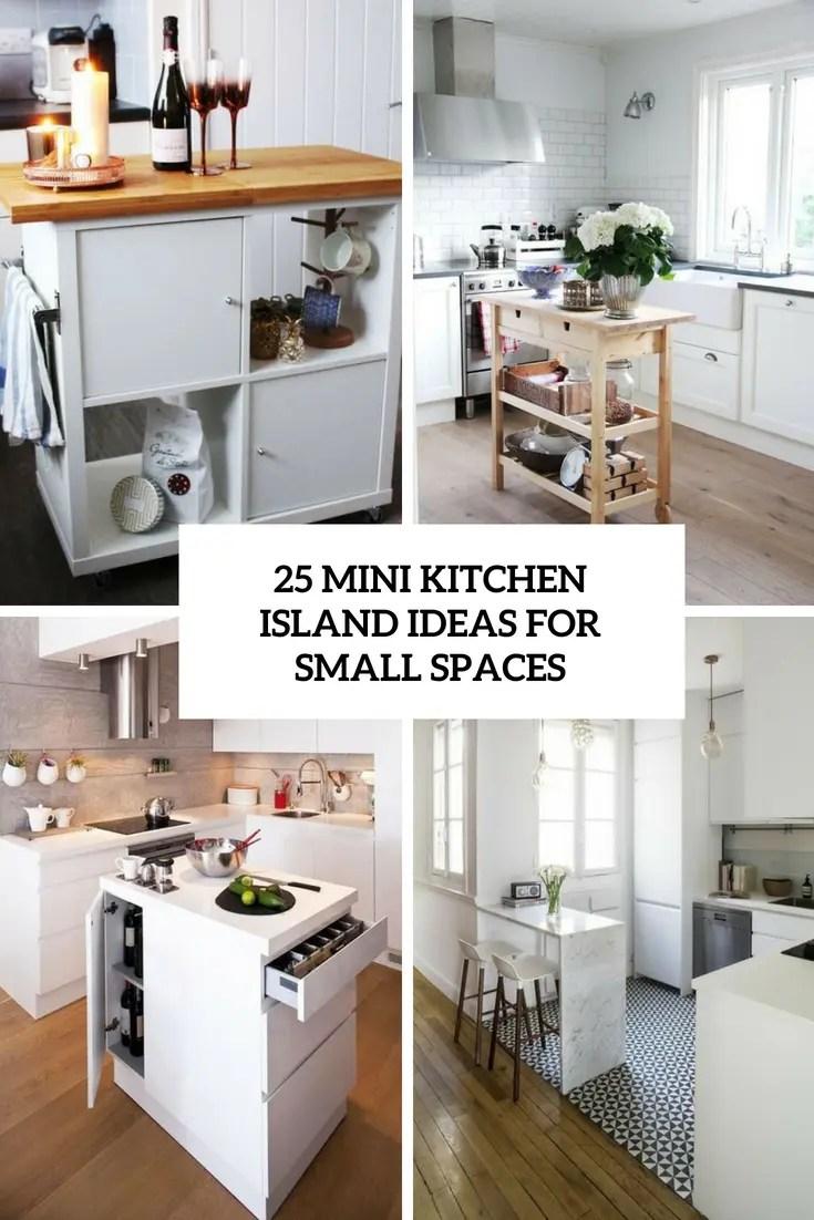 25 Mini Kitchen Island Ideas For Small Spaces - DigsDigs on Small Space Small Kitchen Ideas  id=86453