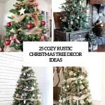 25 Cozy Rustic Christmas Tree Decor Ideas Digsdigs
