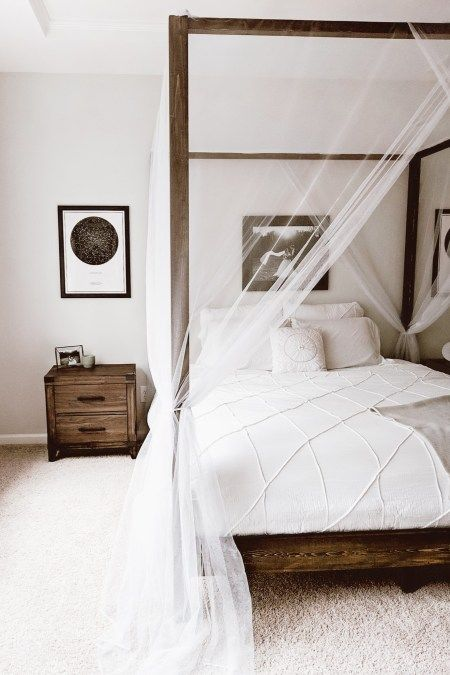25 edgy ways to style your canopy bed