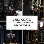 25 Black And Gold Bathroom Decor Ideas Digsdigs