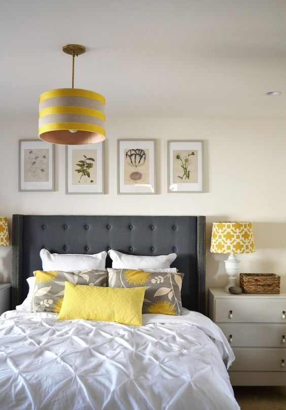 25 Cool Grey And Yellow Bedrooms That Invite In Digsdigs