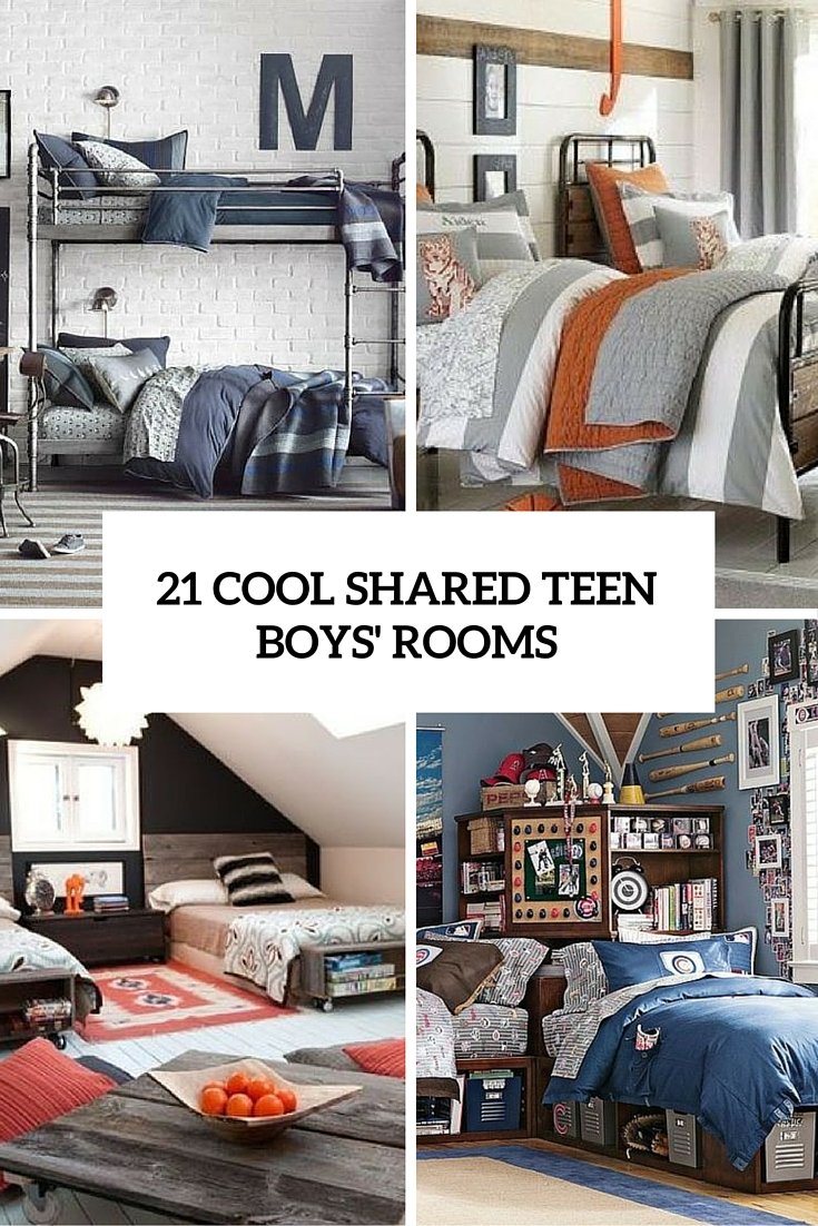 21 Cool Shared Teen Boy Rooms Décor Ideas - DigsDigs on A Small Room Cheap Cool Bedroom Ideas For Teenage Guys Small Rooms  id=44390