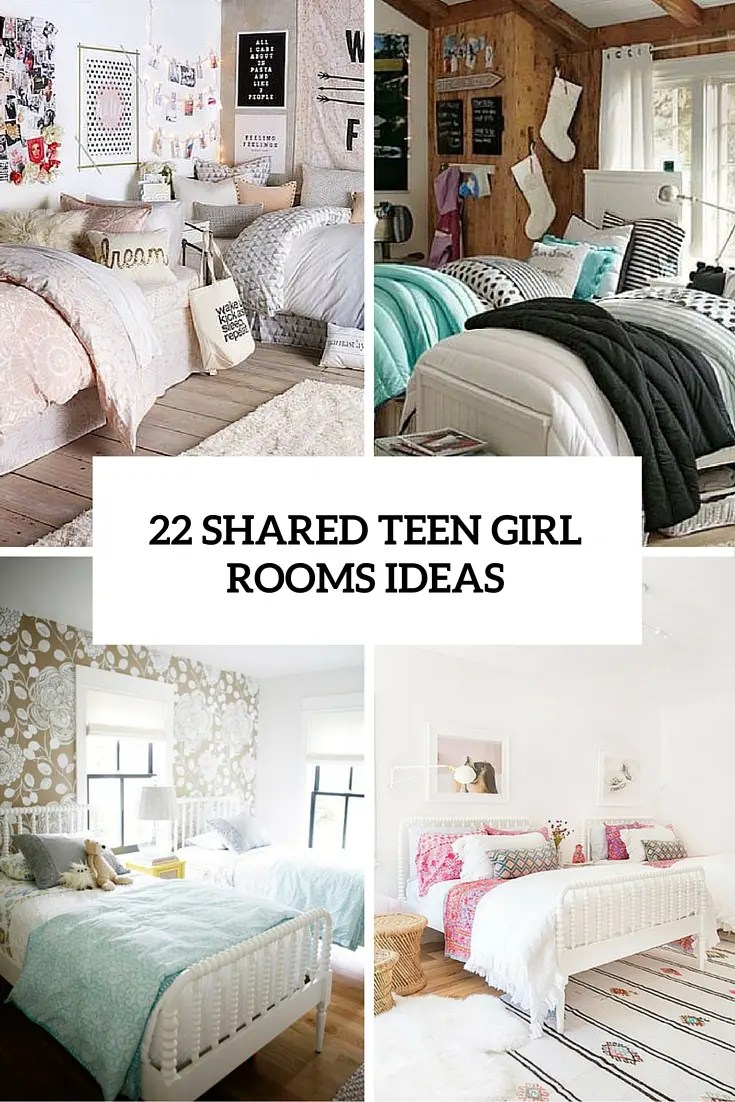22 Chic And Inviting Shared Teen Girl Rooms Ideas - DigsDigs on Room Design For Girls Teenagers  id=86272