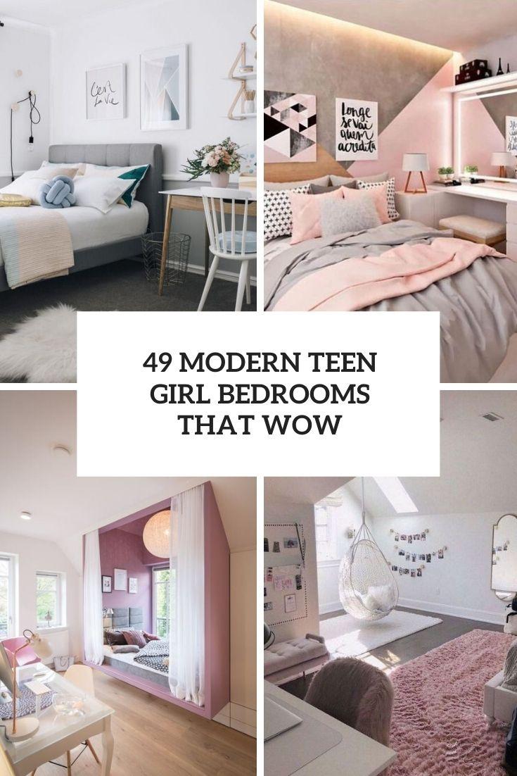 49 Modern Teen Girl Bedrooms That Wow - DigsDigs on Teenager Room Girl  id=79483