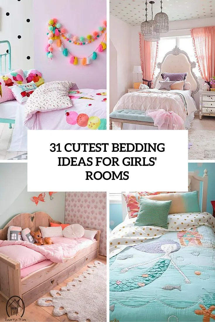 31 Sweetest Bedding Ideas For Girls' Bedrooms - DigsDigs on Room Decorations For Girls  id=66312