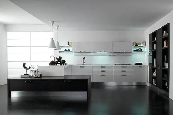 30 Black And White Kitchen Design Ideas DigsDigs