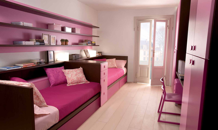 Cool and Ergonomic Bedroom Ideas for Two Children by ... on Teenage:m5Lo5Qnshca= Room Ideas  id=91197