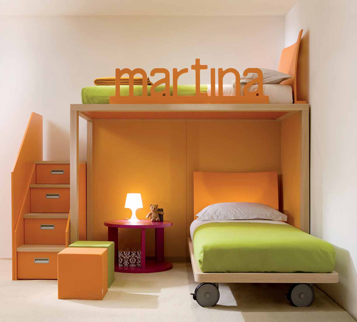Cool and Ergonomic Bedroom Ideas for Two Children by ... on Cool Bedroom Ideas For Small Rooms  id=14901
