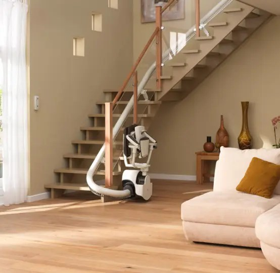 Curved Stair Lift Sinor By ThyssenKrupp Monolift DigsDigs