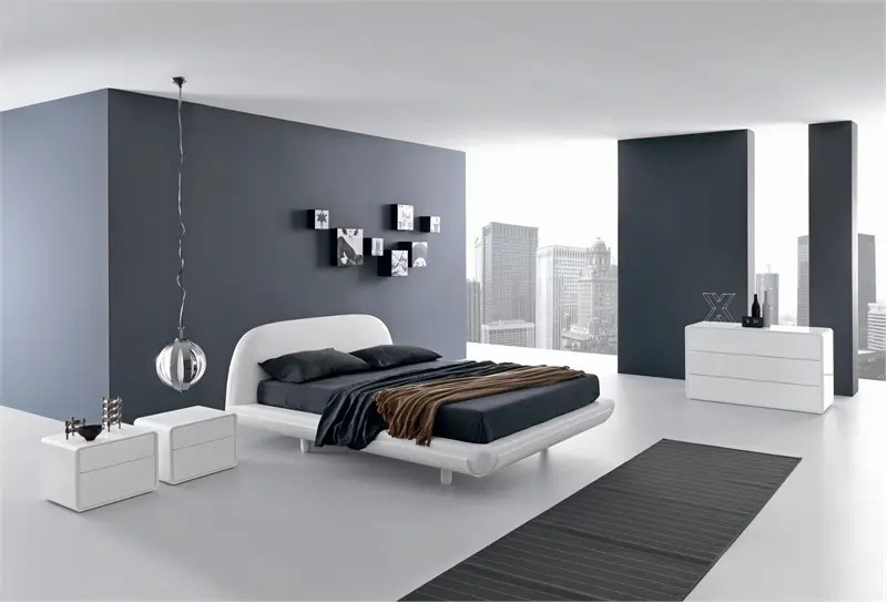 Minimalist Bed For Modern Bedroom - Fusion By Presotto ... on Minimalist Modern Bedroom Design  id=29876