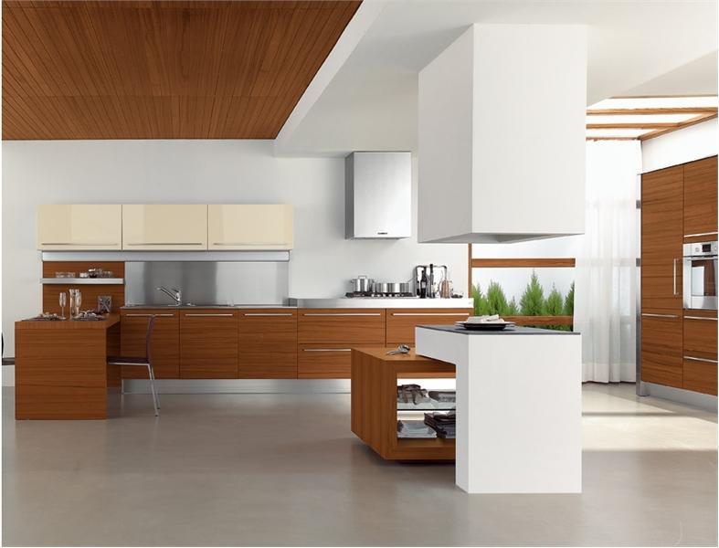 25 Modern Kitchens In Wooden Finish | DigsDigs on Modern Kitchen  id=42318