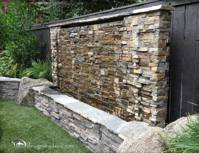 38 Amazing Outdoor Water Walls For Your Backyard | DigsDigs on Backyard Feature Walls  id=26520