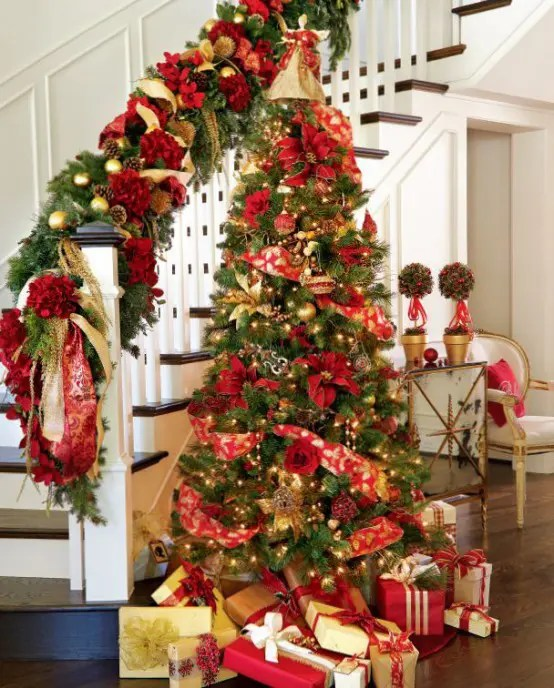 Christmas Home Decorations White Tree Decoratons With