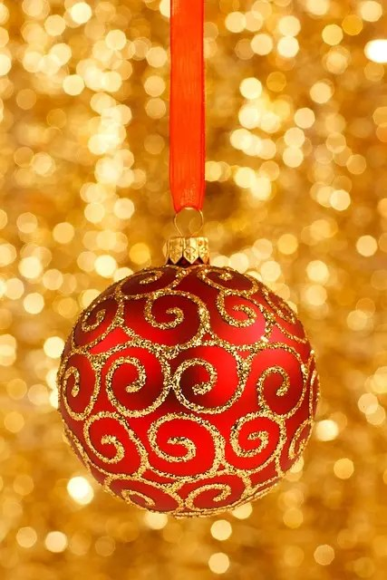 Glamorous Themed Christmas Decorations With Red Gold Ornament Also Mive Lighting For Inspirations Ideas