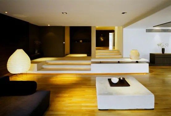 Apartment Interior With Large Living Room