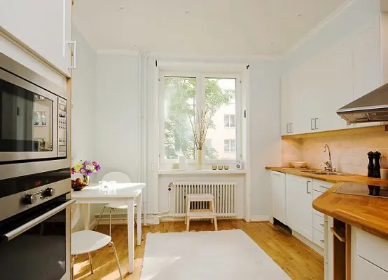 White Kitchen Light Wood Floors