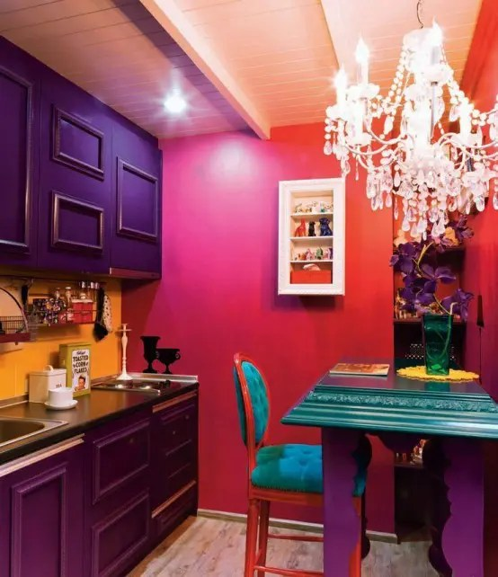 17 Awesome Bold Dcor Ideas For Small Kitchens DigsDigs