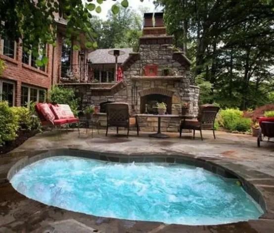 75 awesome backyard hot tub designs