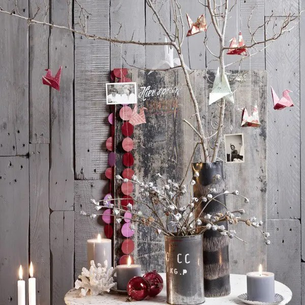 White Feather Christmas Tree Tabletop