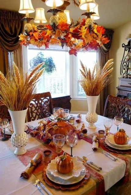 30 Beautiful And Cozy Fall Dining Room Dcor Ideas DigsDigs