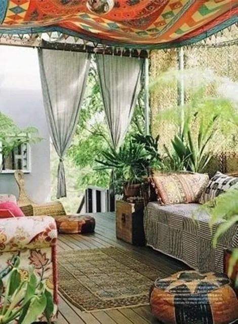 37 Beautiful Bohemian Patio Designs - DigsDigs on Chic Patio Ideas id=53593