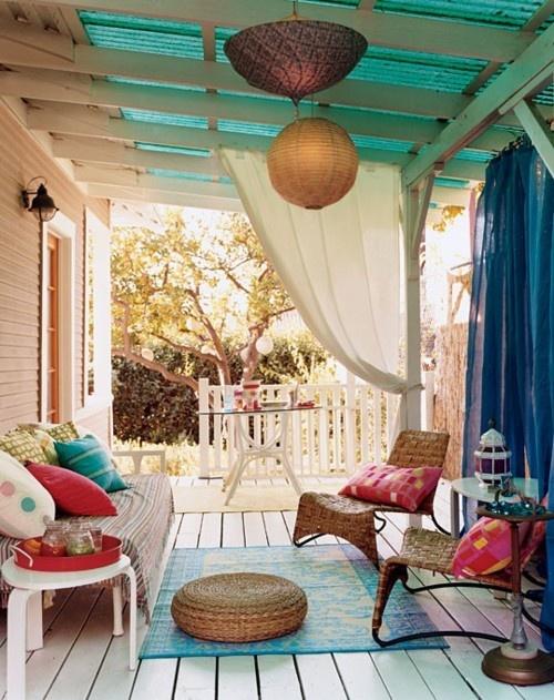 37 Beautiful Bohemian Patio Designs - DigsDigs on Chic Patio Ideas id=62666