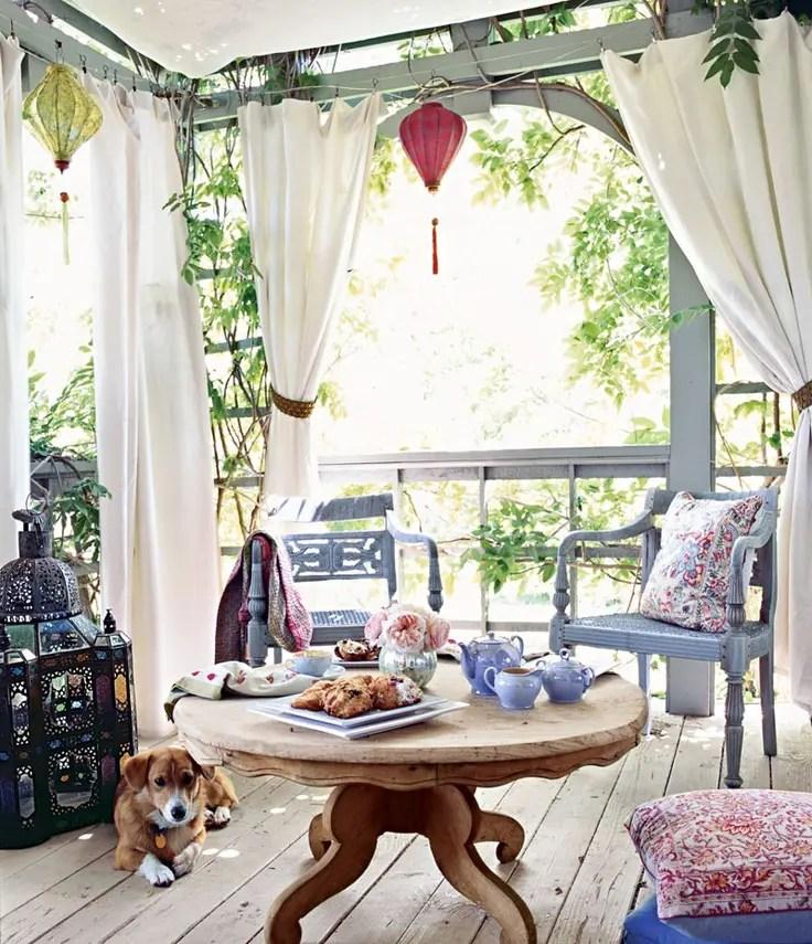37 Beautiful Bohemian Patio Designs | DigsDigs on Chic Patio Ideas id=77257