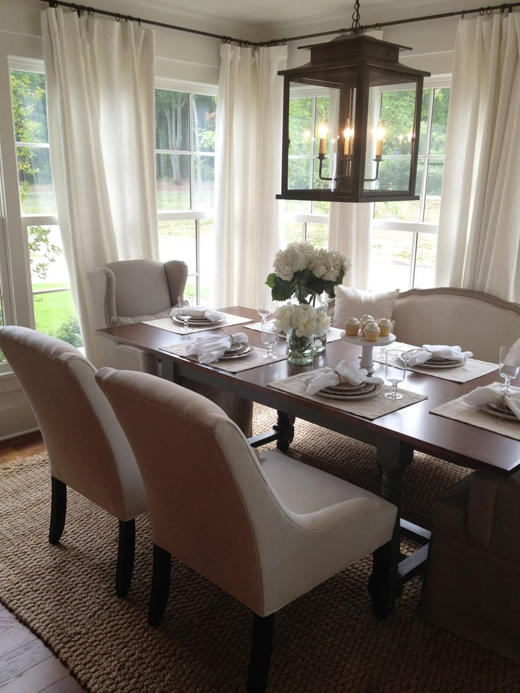 25 Beautiful Neutral Dining Room Designs | DigsDigs on Dining Room Curtains Ideas  id=85260