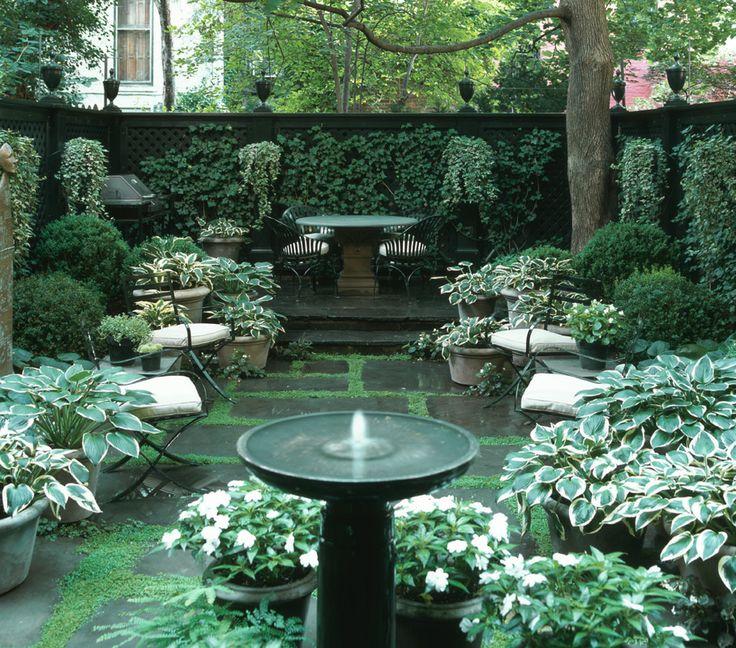 26 Beautiful Townhouse Courtyard Garden Designs | DigsDigs on Townhouse Patio Ideas  id=18333