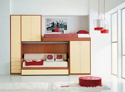Bunk Beds and Loft Bedrooms for Teenagers by IMA - DigsDigs on Teenage Beds For Small Rooms  id=43723