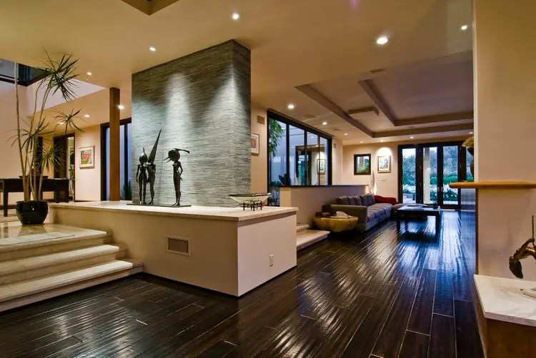 Big Contemporary House with Dark Interior Filled with ... on Interior Modern House  id=12026