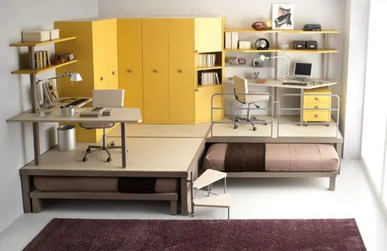 big yellow teenage loft