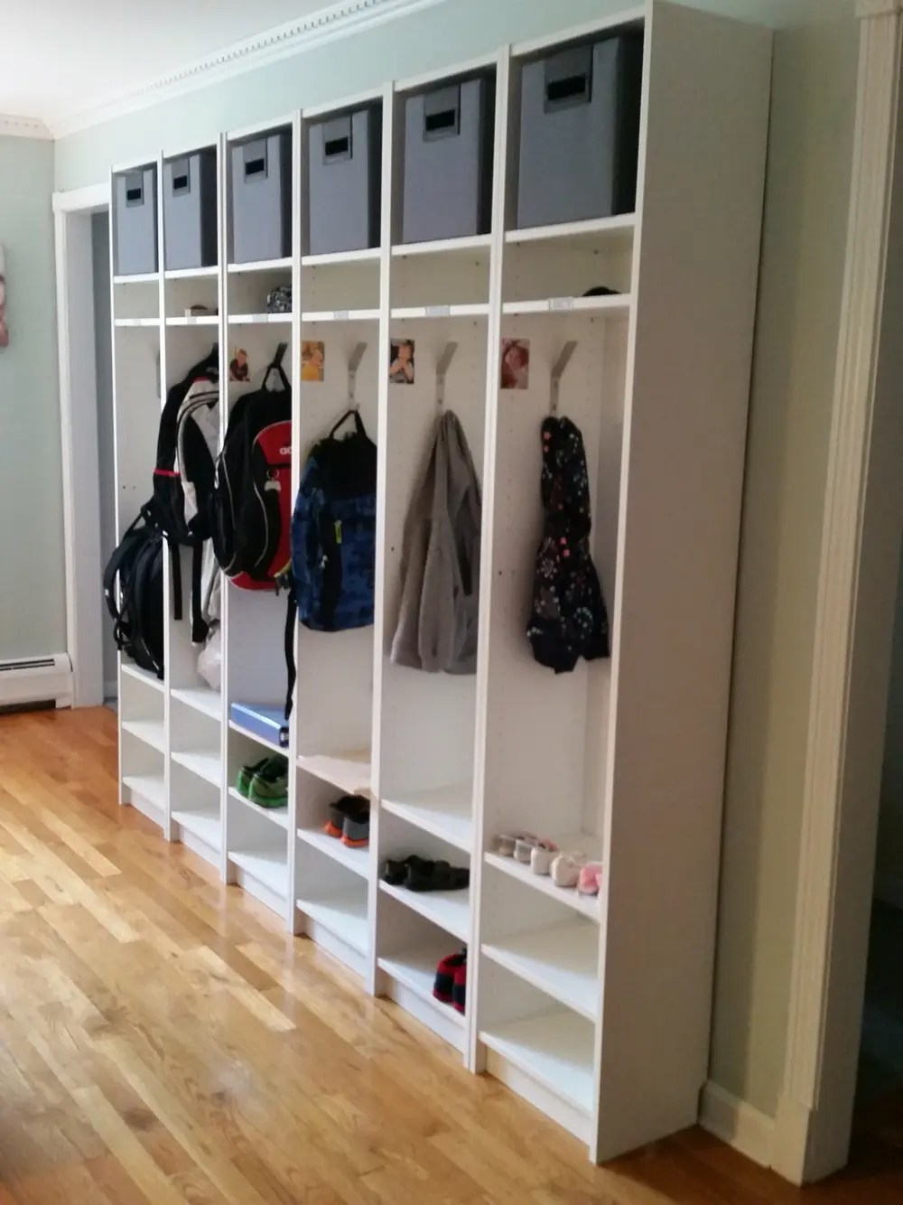 Picture Of Billy Turned Into Entryway Cubbies