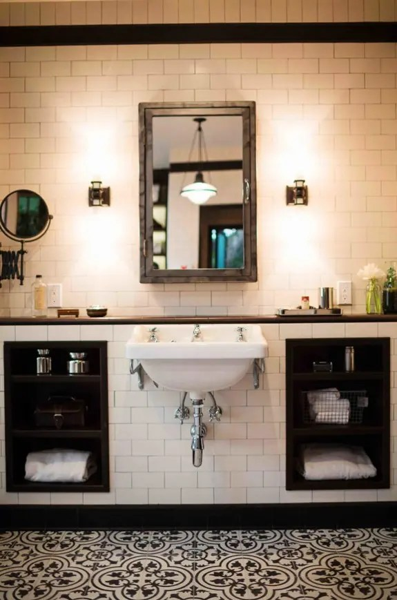 Amazing Black And White Bathroom Design With A Retro Vibe DigsDigs