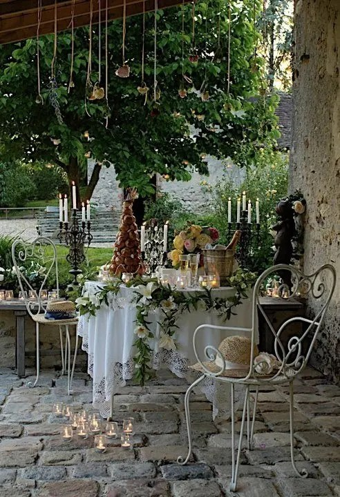 20 Bright Spring Terrace And Patio Décor Ideas - DigsDigs on Romantic Patio Ideas id=83924