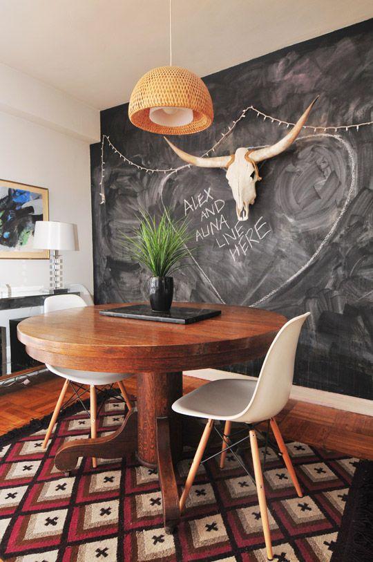 31 Chalkboard Dining Room Décor Ideas You'll Love - DigsDigs on Small:jdu_Ojl7Plw= Kitchen Remodel Ideas  id=81318