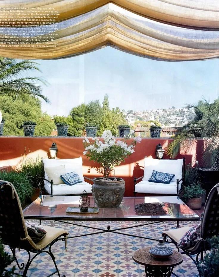 55 Charming Morocco-Style Patio Designs | DigsDigs on Moroccan Backyard Design id=65940