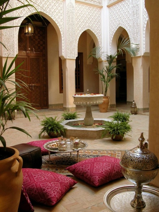 55 Charming Morocco-Style Patio Designs - DigsDigs on Backyard:uuezyx-Hy-8= Landscape Design  id=28563